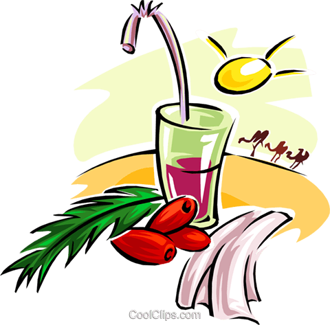 tropical drink Royalty Free Vector Clip Art illustration food0890