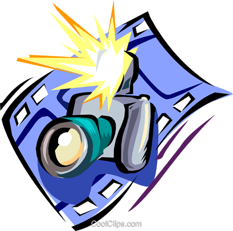 camera and film Royalty Free Vector Clip Art illustration hous1216