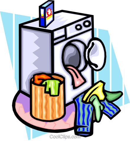 clothes in dryer Royalty Free Vector Clip Art illustration hous1219