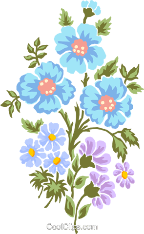 Corn flowers Royalty Free Vector Clip Art illustration natu0799