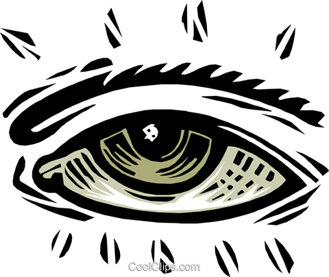 eye - symbol Royalty Free Vector Clip Art illustration peop2561
