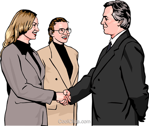 formal introductions Royalty Free Vector Clip Art illustration peop2564
