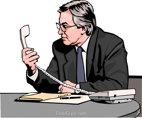 Businessman looking at phone Royalty Free Vector Clip Art illustration peop2571
