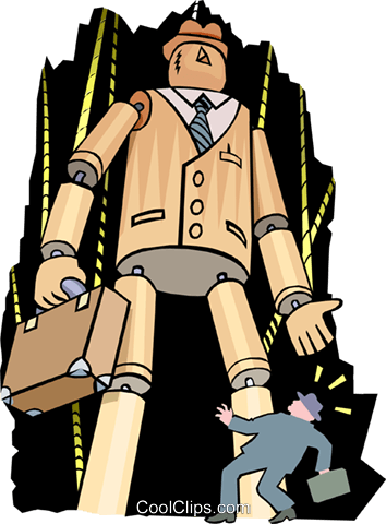 puppet businessman - cartoon Royalty Free Vector Clip Art illustration peop2579