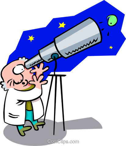 astronomer - cartoon Royalty Free Vector Clip Art illustration peop2584