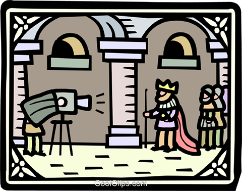 the king's photographer Royalty Free Vector Clip Art illustration peop2586