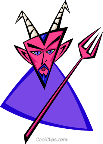 devil - abstract Royalty Free Vector Clip Art illustration spec0071