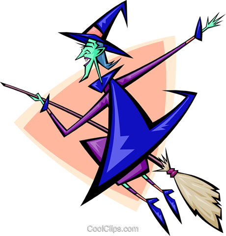 witch- abstract Royalty Free Vector Clip Art illustration spec0073