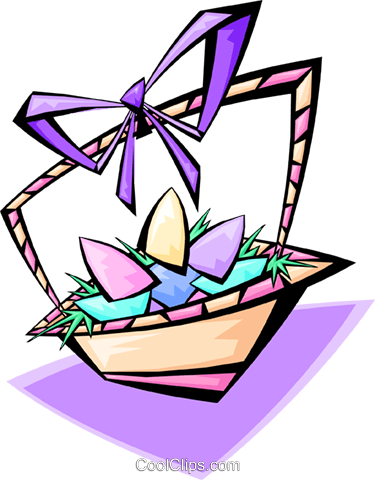 Easter basket - abstract Royalty Free Vector Clip Art illustration spec0075