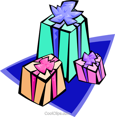 gifts - abstract Royalty Free Vector Clip Art illustration spec0077