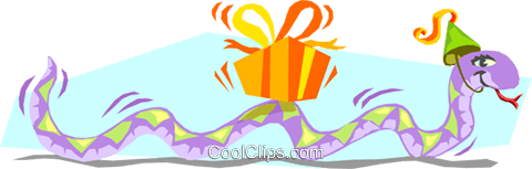 birthday snake Royalty Free Vector Clip Art illustration spec0085