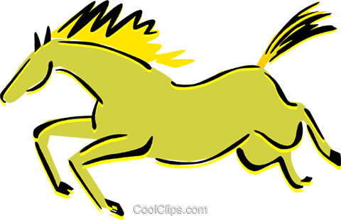 horse cave drawing Royalty Free Vector Clip Art illustration anim1674