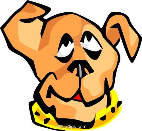 dog face Royalty Free Vector Clip Art illustration anim1688
