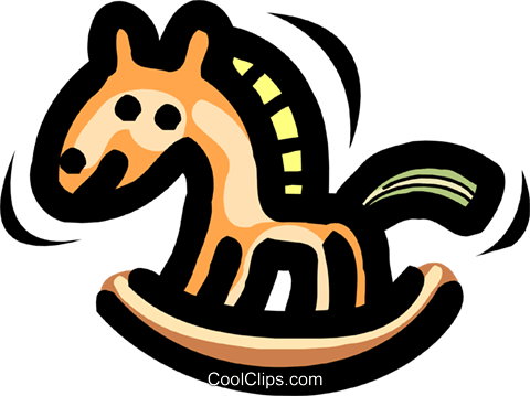 rocking horse Royalty Free Vector Clip Art illustration anim1690
