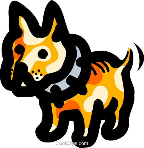 dog Royalty Free Vector Clip Art illustration anim1692