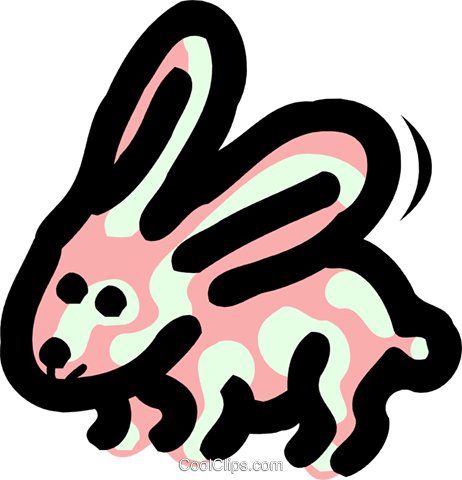 rabbit Royalty Free Vector Clip Art illustration anim1693