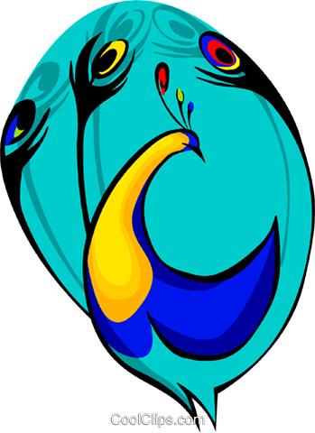 peacock Royalty Free Vector Clip Art illustration anim1697