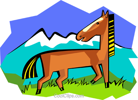 horse Royalty Free Vector Clip Art illustration anim1698