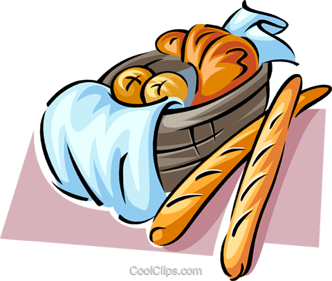 Loaf of bread Royalty Free Vector Clip Art illustration food0899