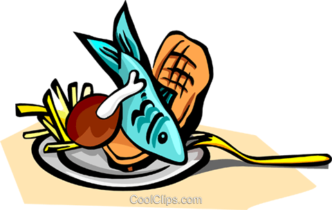 fish and chips Royalty Free Vector Clip Art illustration food0903