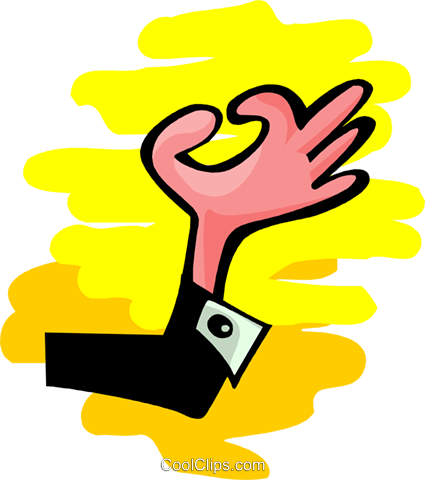 hand making OK - abstract Royalty Free Vector Clip Art illustration peop2604