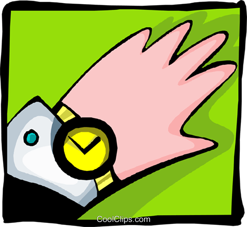 hand with watch - abstract Royalty Free Vector Clip Art illustration peop2605