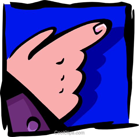 hand pointing two - abstract Royalty Free Vector Clip Art illustration peop2608