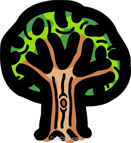 tree Royalty Free Vector Clip Art illustration spec0098