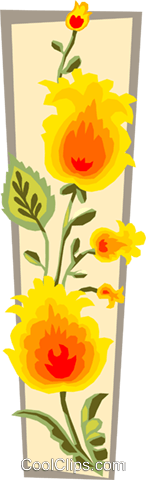 flowers Royalty Free Vector Clip Art illustration spec0110