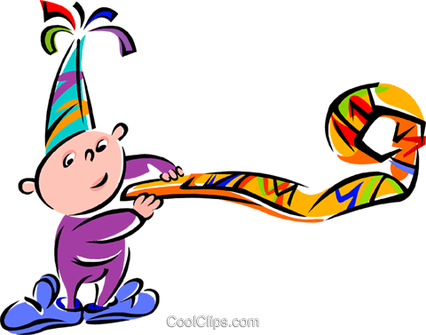 birthday party Royalty Free Vector Clip Art illustration spec0152