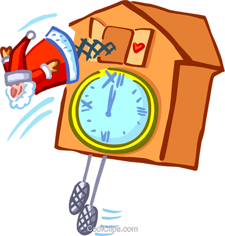 coo-coo clock Royalty Free Vector Clip Art illustration spec0165