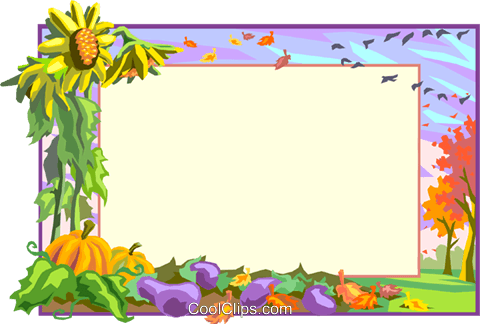 Background/fall landscape Royalty Free Vector Clip Art illustration text1597