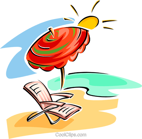beach scene Royalty Free Vector Clip Art illustration trav0044