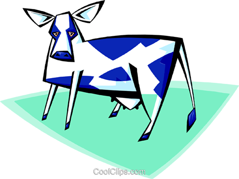 cow Royalty Free Vector Clip Art illustration anim1707