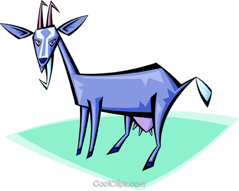 Billy goat Royalty Free Vector Clip Art illustration anim1709