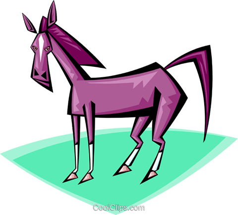 horse Royalty Free Vector Clip Art illustration anim1710