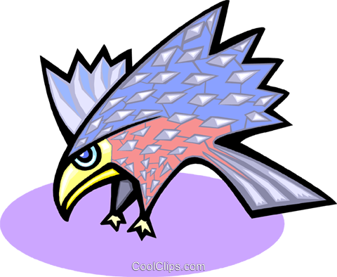 hawk Royalty Free Vector Clip Art illustration anim1714