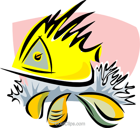 aquatic design Royalty Free Vector Clip Art illustration anim1726