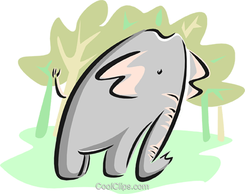 elephant Royalty Free Vector Clip Art illustration anim1733