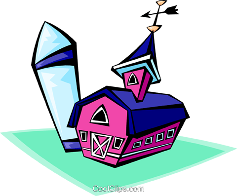 barn Royalty Free Vector Clip Art illustration arch0451