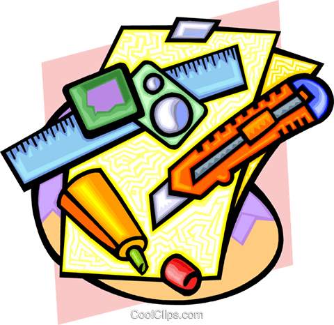 desktop tools Royalty Free Vector Clip Art illustration busi1462