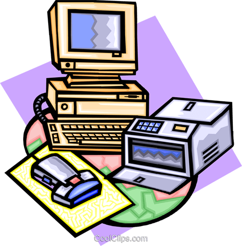computers Royalty Free Vector Clip Art illustration busi1463