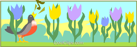 tulips Royalty Free Vector Clip Art illustration divi0037
