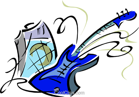 electric guitar Royalty Free Vector Clip Art illustration ente0033