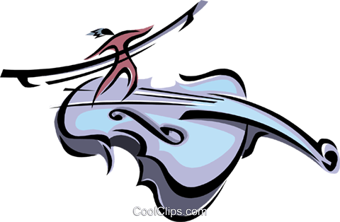 violin musical motif Royalty Free Vector Clip Art illustration ente0052