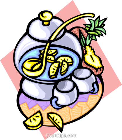 Pineapple punch Royalty Free Vector Clip Art illustration food0906