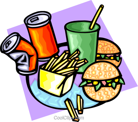 fast foods Royalty Free Vector Clip Art illustration food0907