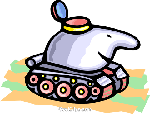 tank Royalty Free Vector Clip Art illustration indu0823