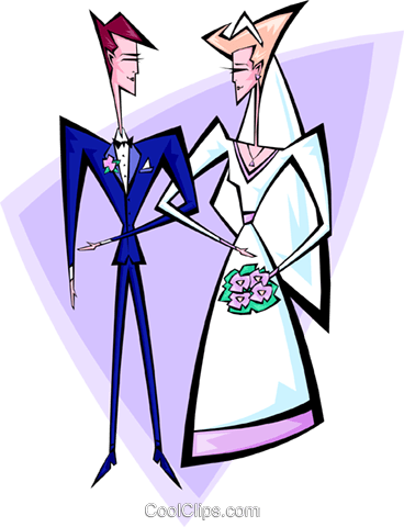 Wedding couple Royalty Free Vector Clip Art illustration peop2609