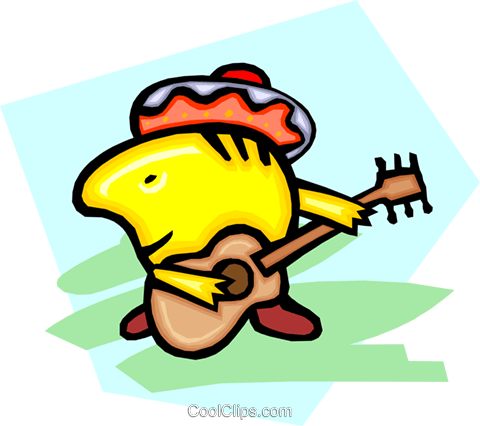 Mexican musician Royalty Free Vector Clip Art illustration peop2614